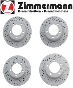 For Porsche Boxster Set of 2 Front & Rear Disc Brake Rotors Vented Drilled