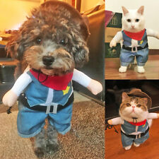 Small Dog Costume Clothes Cowboy Cosplay Funny Party Pet Puppy Halloween Costume