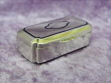 Alte Pillendose Email Silber 800 oder für Schnupftabak