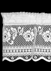 Heritage Lace VICTORIAN ROSE Insert Valance - Select White or Ecru Made in USA