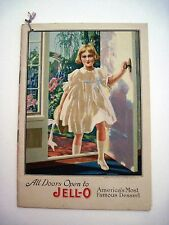 "1917""Jell-O Famous Friends of Jell-O"" Recipe Booklet w Pictures of Famous Women*"