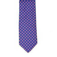 Borrelli Napoli Hand Made 100% Silk Blue Neck Tie New With Tags BT129