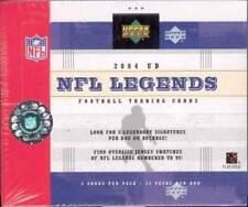 2004 Upper Deck NFL Legends Football Factory Sealed Box - 3 Autographs per Box