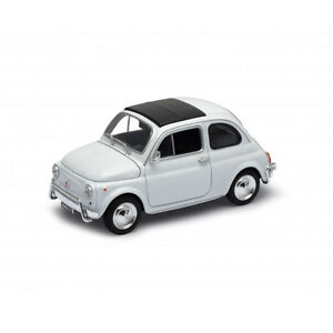 Welly 22515 Fiat 500 White 1957 Scale 1:24 Model Car New !°
