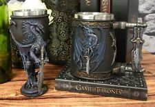 Dragons Lair Winged Dragon With Storm Blade Sword Drink Mug And Wine Goblet Set
