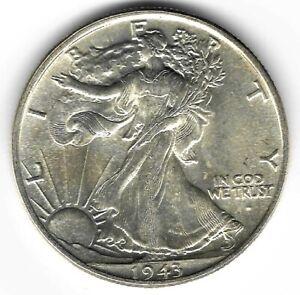 1943-P 50c WALKING LIBERTY SILVER HALF DOLLAR - UNCIRCULATED