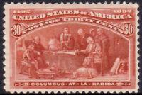 United States 1893 30 cent Columbian mint OG lightly hinged SG #244 £275 = A$485