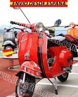 Kit Fred Perry Vinilo Adhesivos Calcomanía moto Scooter Vespa Piaggio