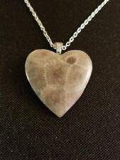 Petoskey Stone Heart Necklace, Medium