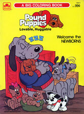 Pound Puppies coloring book RARE UNUSED