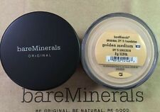 BARE MINERALS ORIGINAL SPF 15 FOUNDATION - GOLDEN MEDIUM - W20 - 8g - SHIP 3PM