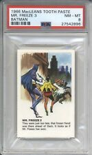 1966 MacLeans Tooth Paste MR FREEZE 3 - BATMAN PSA 8 NM-MT