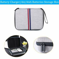 Charger Carrying Case Organizer Storage Box for AA AAA Rechargeable Batteries