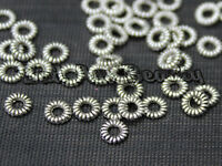 50x 4mm Tibetan Silver Hoop Round Spacer Beads Buy 4 Get 1 Free Jewellery