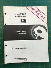 John Deere Operators Manual 50 Inch 3 Point Hitch Rotary Mower Om M86482 H3