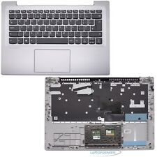 More details for new replacement for lenovo ideapad 320s-14ikb silver palmrest cover uk keyboard