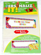 NEW ~SESAME STREET~1-PERSONALIZE IT, GIANT SIGN BANNER KIT -  PARTY SUPPLIES