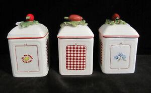 3 x Villeroy & Boch Petite Fleur Charme Marmeladentöpfe