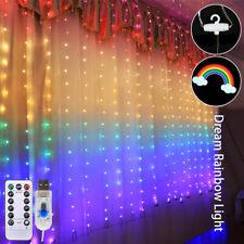 Rainbow Window LED String Lights Xmas Wedding Hanging Lamps Fairy Lights+Remote