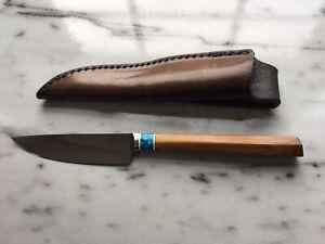 Kelgin Fixed Blade Knife - Bamboo Handle.