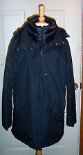 New $898 HERNO LAMINAR GORTEX BLACK LAYER PUFFER RAINCOAT JACKET WOMENS 48 XL