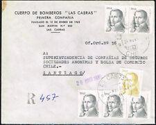 2139 CHILE REGISTERED COVER 1980 LAS CABRAS - SANTIAGO D. PORTALES