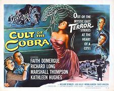 Framed Retro Movie Poster – Cult of Cobra 1955 (Replica Print Film Cinema Art)