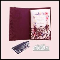 Stanzschablone Rose Blume Blatt Hochzeit Oster Geburtstag Weihnacht Karte Album