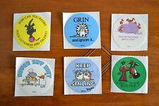 Vintage 80s Stickers Boynton Trademarked Comic Strip Lot of 6 Singles RPP Inc #3