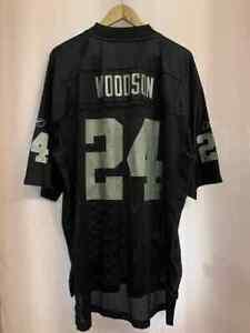 NFL OAKLAND RAIDERS AMERICAN FOOTBALL SHIRT JERSEY REEBOK CHARLES WOODSON #24