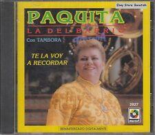 Paquita La Del Barrio Con Tambora Te La Voy A Recordar CD New Nuevo Sealed