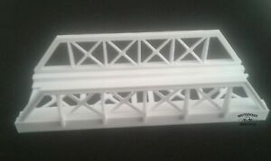SW Replicas 110-2014 N Scale: TRUSS STYLE BRIDGE KIT - WHITE - NEW
