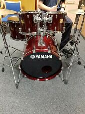More details for yamaha maple custom absolute in cherry red. stunning kit.
