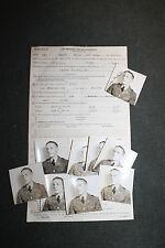 Original WW2 U.S. Army Air Forces S/Sgt. Personal Affairs Statement w/9 Photos
