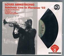 LOUIS ARMSTRONG SATCHMO LIVE IN FLORENCE '52 CD F.C.  NUOVO!!!