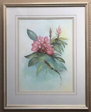 Original Irish Art Watercolour Painting Picture Of Floral Flowers By D Gamble