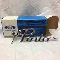 Vintage Ford Pinto Car Badge Emblem Logo Horse Script