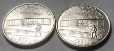 2001 P and D 2 Coin North Carolina Washington Statehood Quarters Set