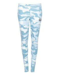 Adidas Originals Ryv Blue Camo Leggings Size 10 New w/ Tags Camouflage Sport Gym