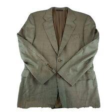 Canali Men's 2 Button Blazer Wool Silk Sport Coat Houndstooth Sz EUR50R Gold