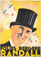 Original Vintage Poster French Fix-Masseau Folies Bergere Dance Deco 1929