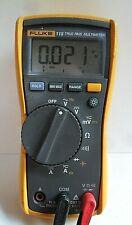 Clean Fluke 115 True RMS Digital MultiMeter + Leads Works Meter DMM