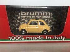 BRUMM 1:43 Fiat 500L Open 1968-1972 Giallo thaiti R464-05