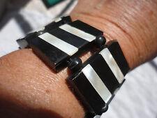 Crema De Diseño Deco Mop incrustación de 32 mm de ancho negro de resina 44 Gr Pulsera elástica