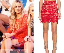 NWT $169 For Love & Lemons Gianna RED Floral Lace Mini Skirt Sz S
