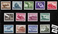 #6894   Complete Mint stamp set / Wehrmacht & other Military 1944 / Third Reich