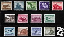 #6894   Complete Mint stamp set / Wehrmacht & other Military 1944 / Third Reich