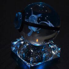 3D Pokemon Go Raichu Laser curving K9 crystal Night LED table desk light lamp