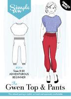 Womens Ladies Beginner Simple Sew Gwen Top and Pants (Capsule Collection) UK8-20