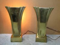 Pair Vintage STIFFEL Brass Table Sconce Deco/MCM Dimmer Lighting J0902